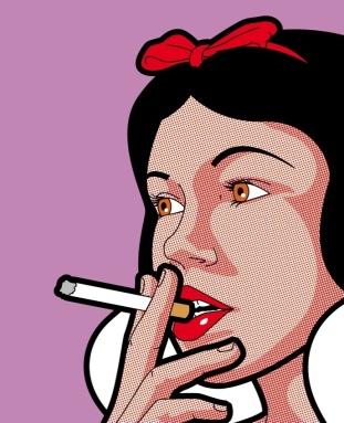 branca-de-neve-fumando